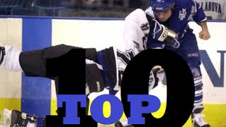 Top Ten NHL Hockey Fights of Tie Domi