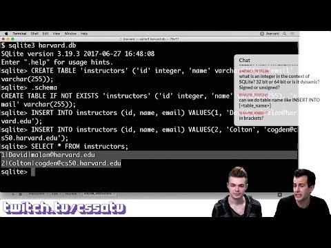 SQL BASICS - CS50 On Twitch, EP. 6