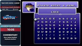 Tina's RPG Show, I Guess? - Final Fantasy VI Edition