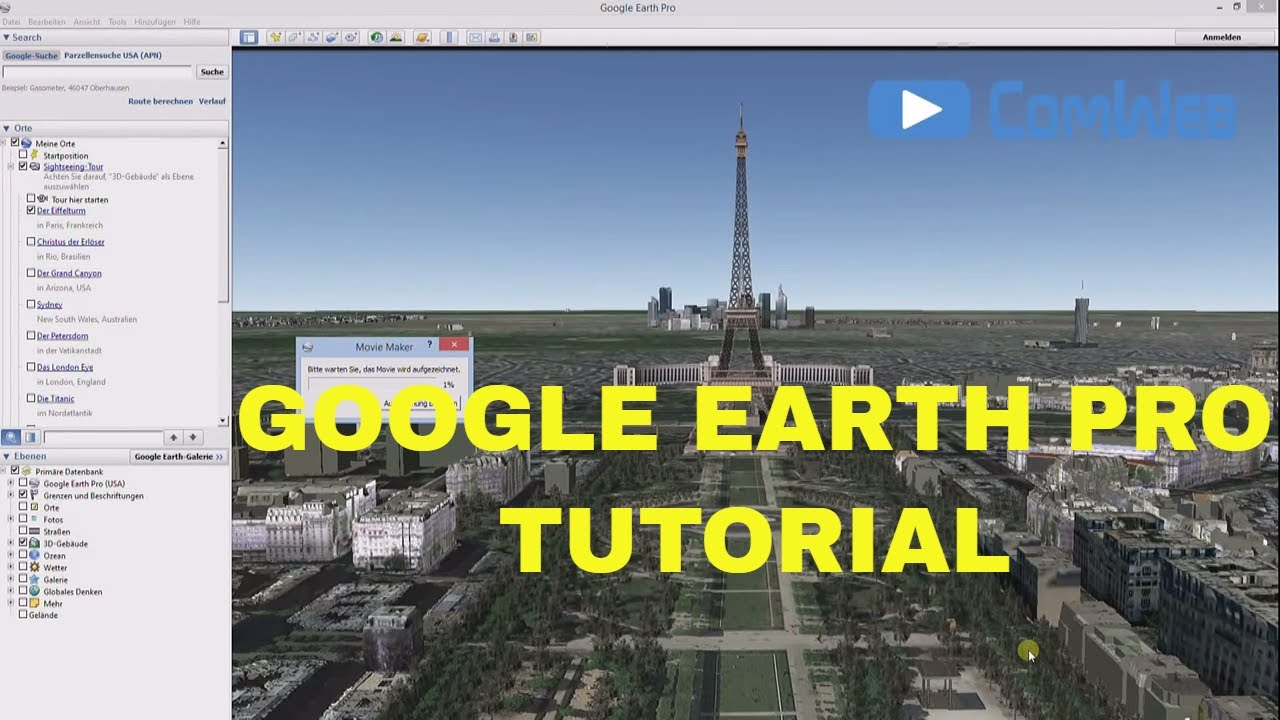 Google Earth Pro e erstellen Part 1 Deutsch