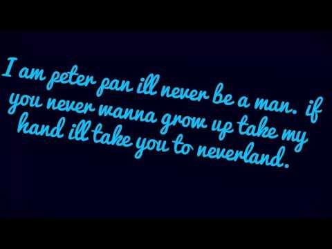 I am Peter Pan  I'll never be a man  LYRICS PL ANG FR NL