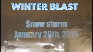 Live Toronto incoming snow storm (previously recorded)