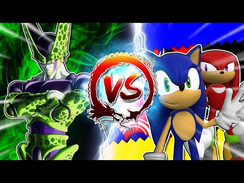 Dragon Ball Z Abridged: Cell Vs Sonic & Knuckles #CellGames