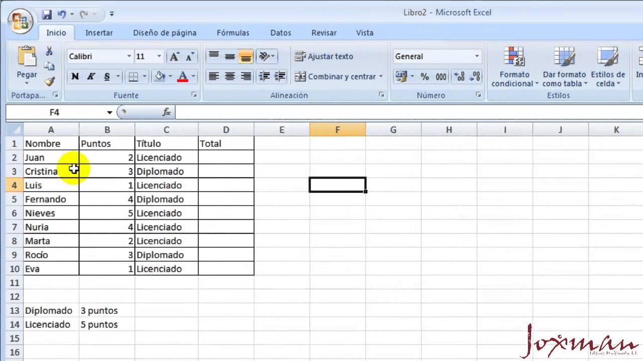 04-Excel avanzado: Operadores lógicos, función SI y función SI anidada