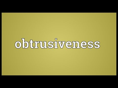 Header of obtrusiveness
