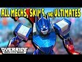 ALL MECHS, LEGENDARY SKINS and ULTIMATES in OVERRIDE: MECH CITY BRAWL (All Unlocks and Finishers)