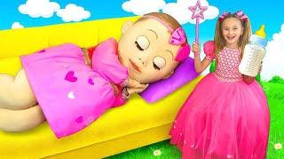 Sasha and the big harmful baby doll