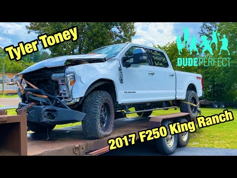 I Bought Dude Perfect Tyler Toney Wrecked 2017 Ford F250 Kinch Ranch And Im Going To Rebuild It