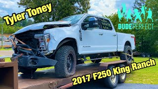 I Bought Dude Perfect Tyler Toney Wrecked 2017 Ford F-250 King Ranch And Im going To Rebuild It