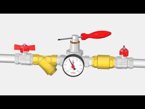 Installation of pressure reducing valve Art 143 ITAP
