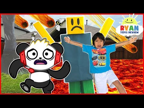Thumbnail: ROBLOX Natural Survival Disaster In Real Life + Combo Panda Gaming Family Fun kids Pretend Playtime