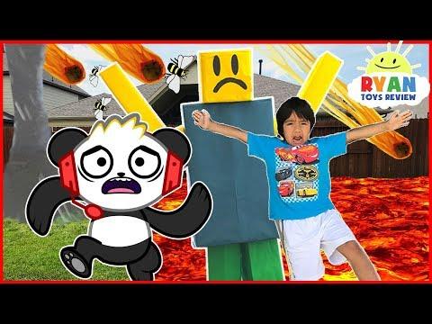 ROBLOX Natural Survival Disaster In Real Life + Combo Panda Gaming thumbnail