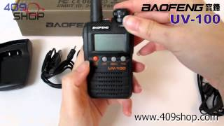 BAOFENG UV-100 136-174/400-470Mhz mini radio