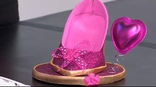 Como hacer una zapatilla recordatorio de quince años- Hogar Tv  por Juan Gonzalo Angel