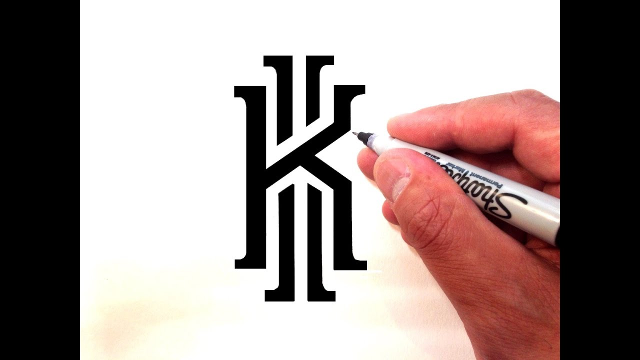 How to Draw the Kyrie Irving Logo - YouTube