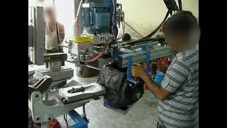 Gambar cover PU and cork footwear molding machine by PU MIX Technologies