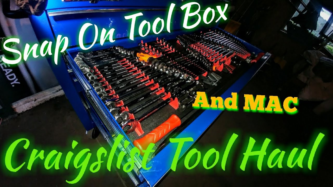 Snap-On and MAC Craigslist tool Haul