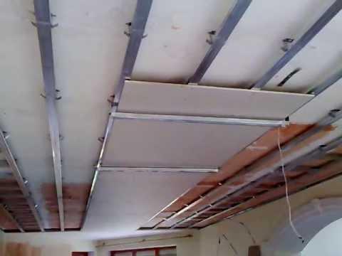 видео: #1. гипсокартонный потолок, секрет монтажа в одиночку. one man drywall installation.