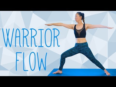 Uplifting Yoga for Confidence, Strength & Focus | 30 Minute Class, Warrior Poses, How to, Boost Mood