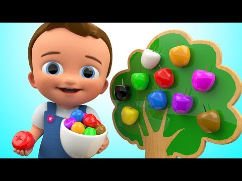 Thumbnail: Learn Colors for Children with Apple Fruits 3D Wooden Toys Kindergarten Toddler kids Educational Vid