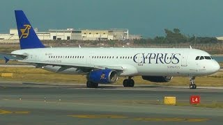Cyprus Airways A321-231 | Taxi | Gate Arrival | Shutdown | Jetway | Larnaca Intl Airport Spotting