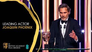 Joaquin Phoenix Delivers Powerful Speech After Leading Actor Win for Joker | EE BAFTA Film Awards