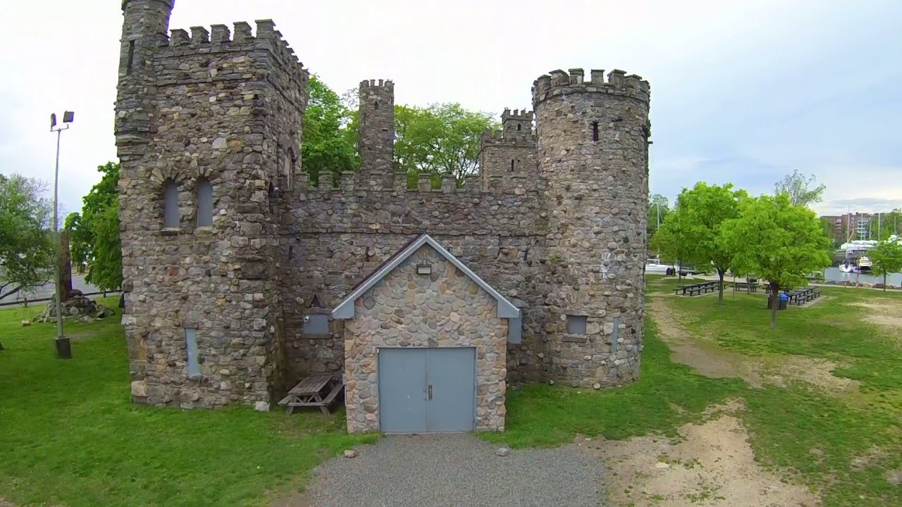 Glen Island Castle Overhead View Youtube