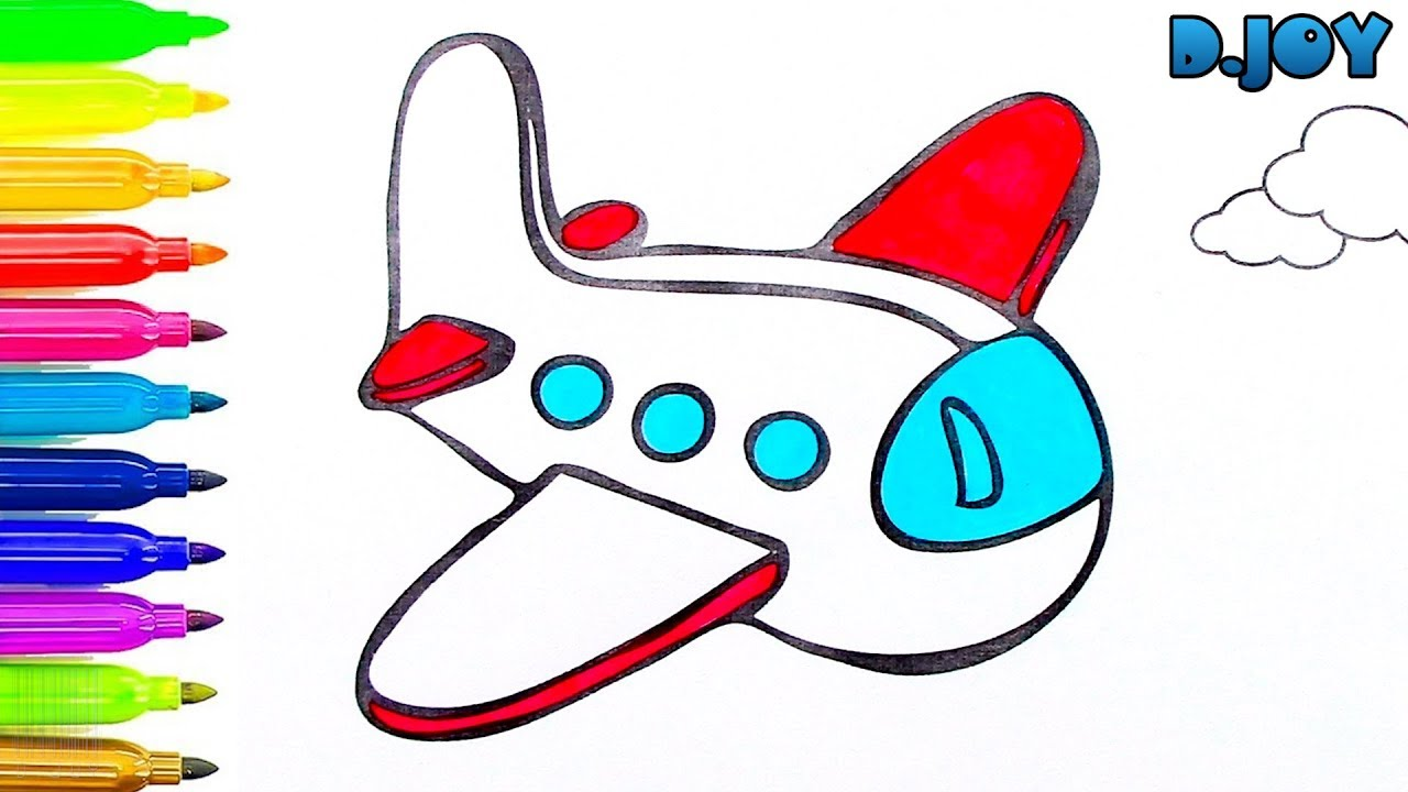 Cmo Dibujar y Colorear Avin Arte y Colores Para Nios Colorear
