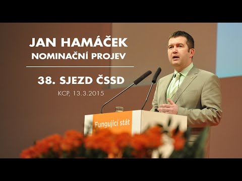 Jan Hamáček - nominační projev na 38. sjezdu ČSSD