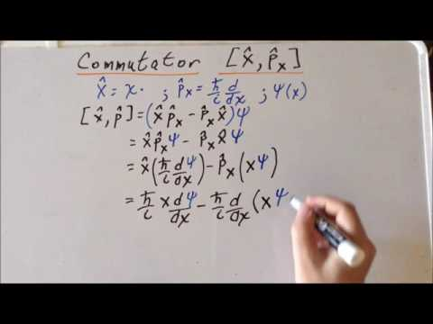 Commutator: linear momentum and position