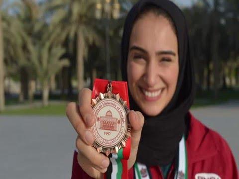 Izaac Cole interviews swimmer Fatemah Al-Habib for 360TV