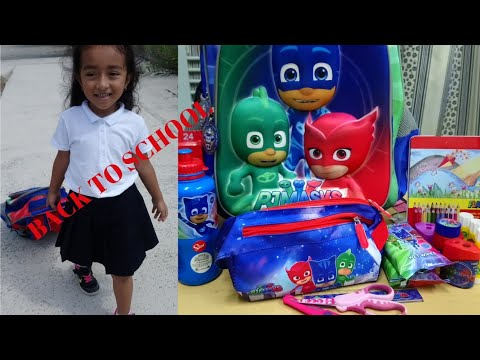 Back to School Mini Haul and Unboxing. | PJMask Bag and School Supplies.