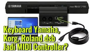 CARA Keyboard Yamaha, Korg, Roland, CASIO jadi MIDI Controller di DAW Studio One