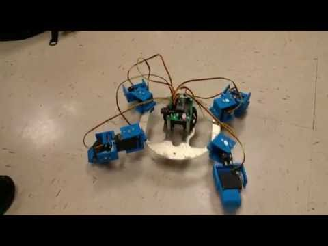 Clarence Rodgers's 3D-Printed, Walking Spider Bot -- George School 2016 Robotics Final