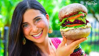 Epic Supersized Fullyraw Vegan Burgers!
