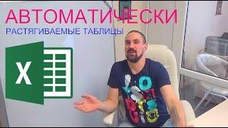Автоматически растягиваемые таблицы Умные таблицы #Обучение #Бизнес #Excel