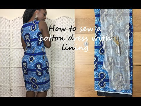 DIY HOW TO SEW A DRESS WITH AFRICAN FABRIC