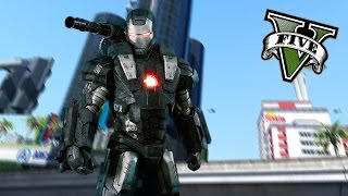 GTA 5 PC - War Machine Rock N Roll ! (Iron Man V)