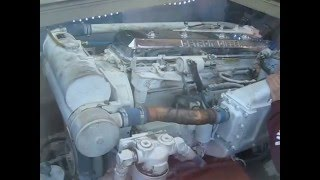 1982 Post Marine 46 Sportfish Engine Room