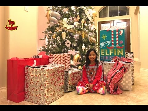Christmas Morning Opening Of Gifts Toys Academy Youtube