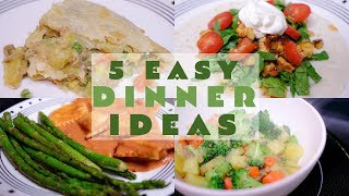 WHAT'S FOR DINNER? | 5 EASY & CHEAP FAMILY MEALS | BUDGET FRIENDLY RECIPES