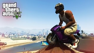 INCREDIBLE BIKE STUNTS! - (GTA 5 Top 5 Stunts)