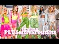 AVERAGE GIRL TRIES PRETTY LITTLE THING FESTIVAL OUTFITS - SIZE 14 STYLE SWAP | LUCY WOOD
