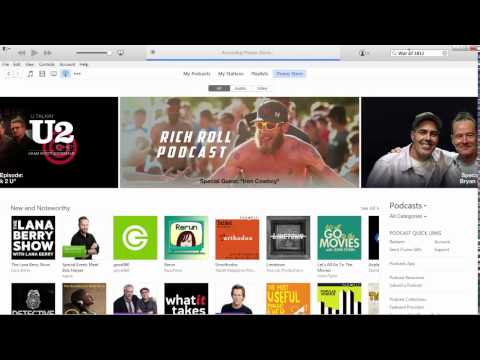 How to Search for and Download a Podcast Episode from iTunes v.12