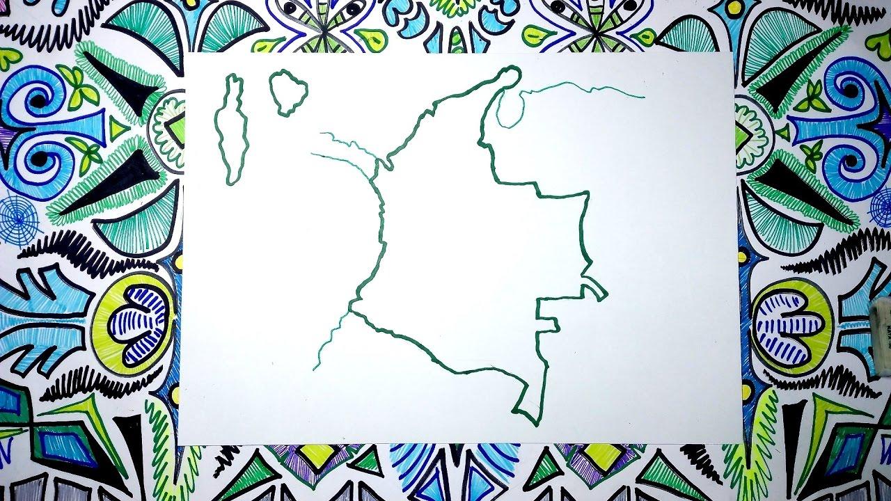 Aprende a dibujar el mapa de Colombia fcil paso a paso  YouTube