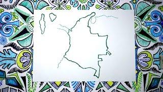 Aprende a dibujar el mapa de Colombia fácil paso a paso
