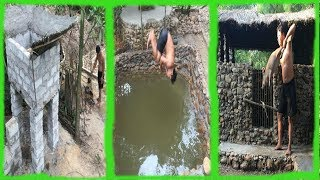 Primitive Life:Ancient ConcretePool and Pigsty!Next months in the forest!