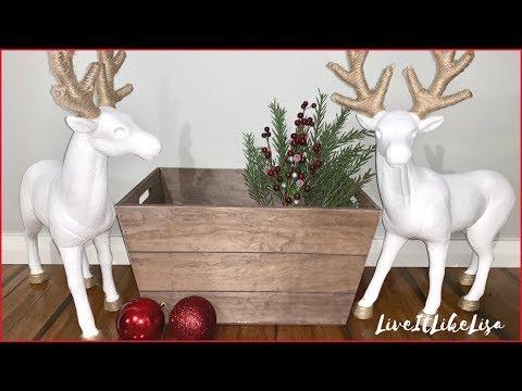CHRISTMAS DIY DECOR | Farmhouse Reindeer Makeover