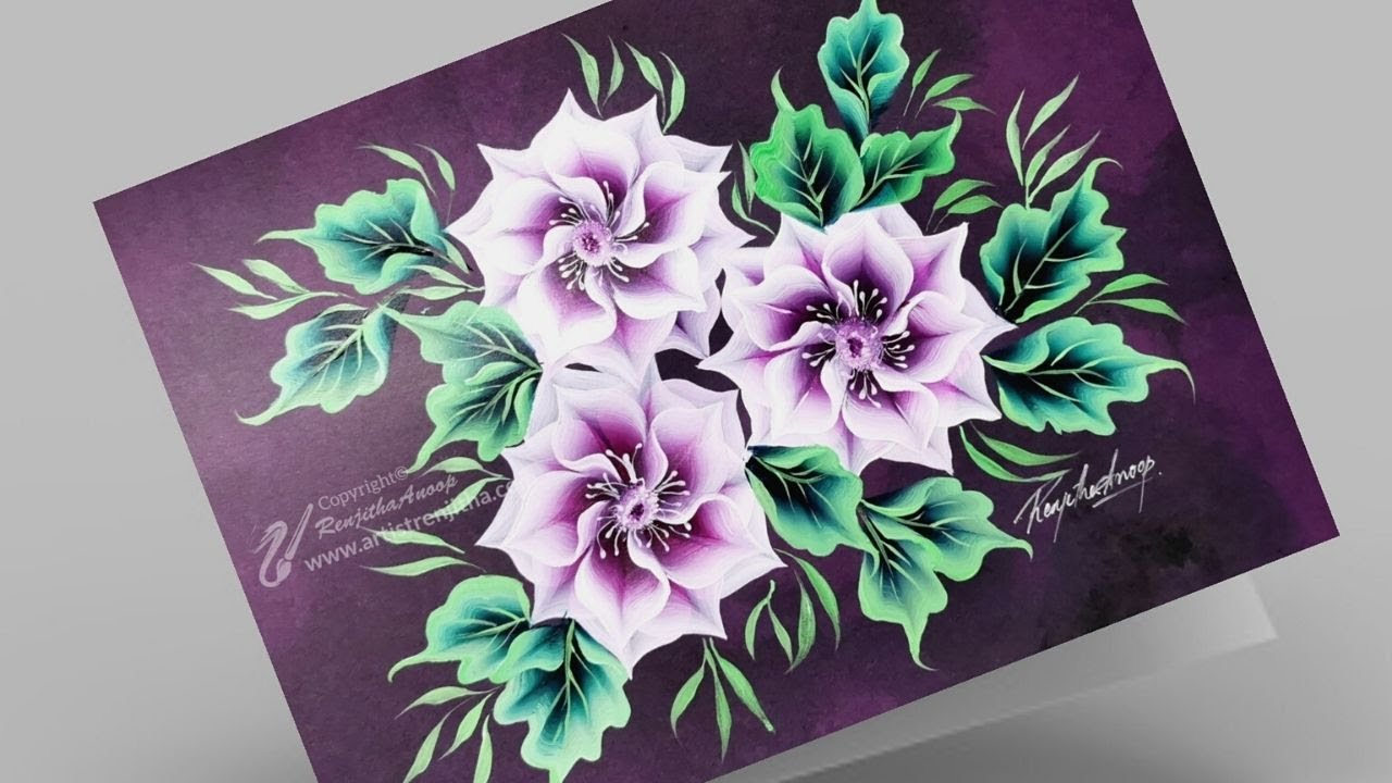 Easy Painting For Beginners Art Simple Flower Painting Ideas Youtube