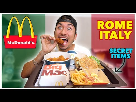 Tasting McDonalds In Rome Italy! (International Menu)